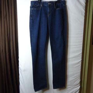 Gap Real Straight Dark Wash Jeans 31 Tall